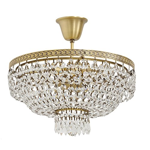 delicate-compact-luxury-and-exquisite-round-semi-flush-ceiling-chandelier-round-shape-antique-brass-