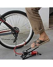 BRAHMANI CREATION High Pressure Gauge, Foot Pedal Inflator Single Barrel Cylinder Air Inflation Pump for Motorcycles, Bike Motorbike, Bicycle Tyre Balls, Tires Car