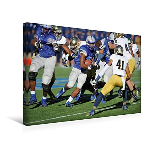 Calvendo Premium Textil-Leinwand 45 cm x 30 cm quer, Touchdown - American Football   Wandbild, Bild auf Keilrahmen, Fertigbild auf echter Leinwand, Leinwanddruck Sport Sport