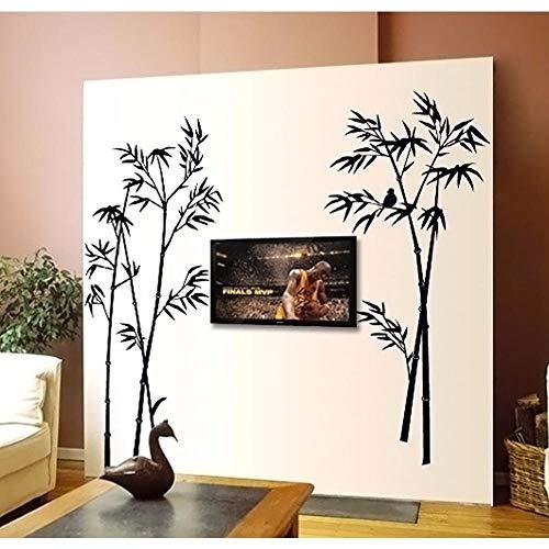 Zbzmm Kreative Tier Vogel Auf Dem Schwarzen Bambus Wandaufkleber Wohnkultur Für Wohnzimmer Schlafzimmer Kinderzimmer Kunst Poster Tapete