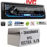 Opel Vectra A+B - Autoradio Radio JVC KD-X151 | MP3 | USB | Android 4x50Watt - Einbauzubehör - Einbauset