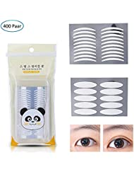 400 Paar Eyelid Tapes, MS.DEAR Augenlid Tape Stripes Augenlid Streifen, Doppelseitiges Augenlidband Unsichtbar und Wasserdicht für ein sofortiges Augenlid-Lifting (200 Paare Slim + 200 Paar breit)