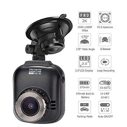 MYYINGELE-Autokamera-2560-1080P-Dashcam-Armaturenbrett-Kamera-2-Zoll-LCD-Bildschirm-Video-Recorder-mit-170–Weitwinkel-G-Sensor-Parkmonitor-Loop-Aufnahme-Bewegungserkennung