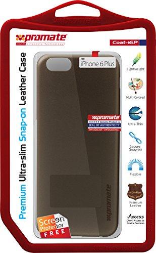 Promate Coat-i6p Premium Ultra Fine à rabat en cuir Coque pour Apple iPhone 6Plus/6s Plus–Bleu doré