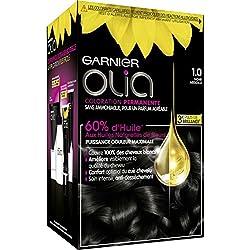 Garnier - Olia - Coloration Permanente à l'Huile Sans Ammoniaque Noir - 1.0 Noir Absolu