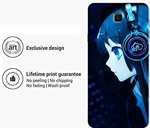 """Humor Gang girl with headphones music Printed Designer Mobile Back Cover For """"Meizu M3 Note"""" (3D, Matte Finish, Premium Quality, Protective Snap On Slim Hard Phone Case, Multi Color)"""