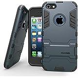 HOOMIL iPhone SE 5 5S Hülle, [Rüstungs Series] iPhone SE 5 5S Hülle Ultra dünne Cover Silikon Stoßfest Case mit Ständer Schutzhülle für Apple iPhone 5 iPhone 5S SE - Blau Schwarz