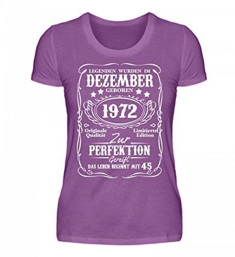 Camicia Bio Da Donna Di Alta Qualità - Legenden, Dicembre 1972-45. Compleanno Viola