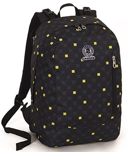 Backpack REVERSIBILE INVICTA TWIST - CHECK - Grau Gelb 26Lt