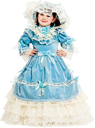 COSTUME di CARNEVALE da VIA COL VENTO BABY vestito per bambina ragazza 1-6 Anni travestimento veneziano halloween cosplay festa party 53167 Taglia 5
