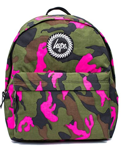 Hype Vida Camo Backpack (Green/Pink)