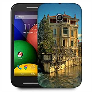 Snoogg Water And House Designer Protective Phone Back Case Cover For Motorola E2 / MOTO E22