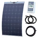 250W semi-flexible Solar charging kit per camper, caravan, camper, camper, barca o yacht (Made in Austria)