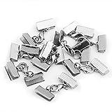 10X Metall Verschluss Kettenverschluss Silber Karabiner