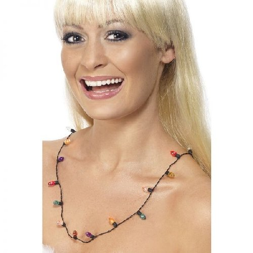 Collana Luci Colorate Smiffys 34478 L.75 cm Flashing Light Necklace