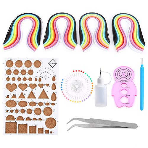 Kits Quilling papel Set Quilling Strips + Tablero