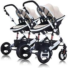 Jian E E-Carro Los cochecitos de bebé Gemelos se Pueden sentar y Desmontable Alto