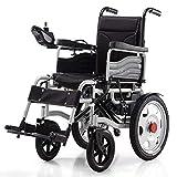 MENUDOWN Electric Wheelchair,Electric Folding Wheelchair Lightweight Full Intelligent Powerchair Super Endurance Safer Elderly Wheelchair