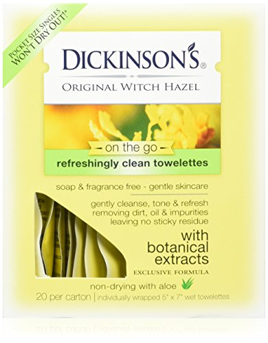 T.N. Dickinson's Witch Hazel Formula Towelettes with Aloe, 3 Count by T.N. Dickinson's - Soap Towelettes