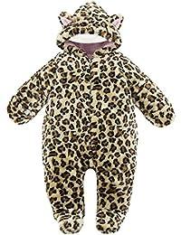 Barboteuse Animal Bebe - Manche Longue Ensemble de Animaux Forme Pyjama Romper a Capuche Coton Enfant Garçons Filles Combinaison