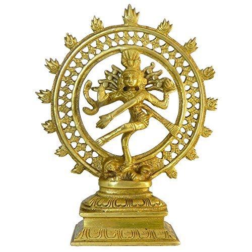 Natraj Messing Figur 21cm Nataraj Statue tanzender Shiva Hinduismus indische Gottheit