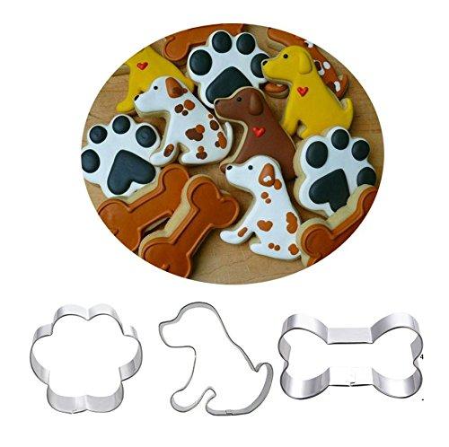 Astra Gourmet Hund Cookie Cutter Set-3-Labrador Hund, mit Hundemotiv, und Hund Knochen Edelstahl Ausstechformen -