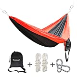 Hammock, Blusmart Nylon Parachute Taffeta Camping Hammocks Portable High Strength Tree Bed for Garden, Picnic, Travel Outdoors and Hiking