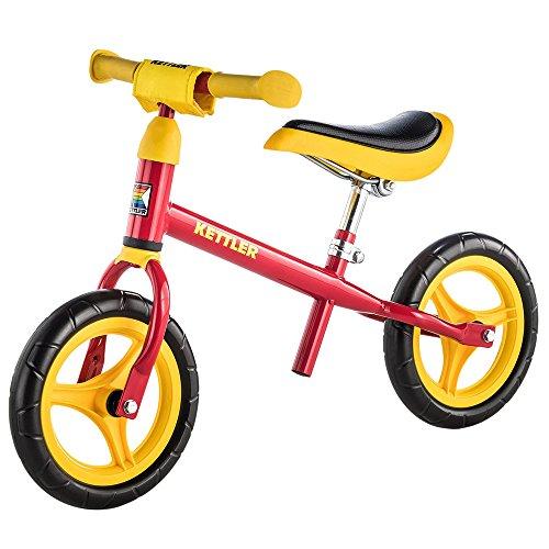 Kettler Laufrad Speedy 2.0 - das verstellbare Lauflernrad - Kinderlaufrad mit Reifengröße: 10 Zoll - stabiles & sicheres Laufrad ab 2 Jahren - rot & gelb