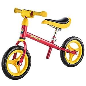 Kettler Rueda Speedy 2.0-Neumáticos tamaño: 10Pulgadas, a Partir de 2años Adecuado-La Prueba Unidad Sieger-Rueda de Aprendizaje para niños y niñas-Seguridad Probada TÜV Rojo Rojo