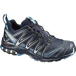 Salomon Homme Chaussures de Trail Running, XA PRO 3D GTX, Couleur: Bleu marine (Navy Blazer/Hawaiian Ocean/Dawn Blue), Pointure: EU 44