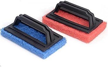 SHAFIRE Tile Cleaning Scrubber Brush Tile Cleaning Floor Cleaning Hard Brush Set of 2(Random Colour)