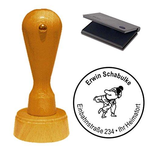 Stempel mit Kissen « KARATE » Adressenstempel Firmenstempel Sportverein Kampsport