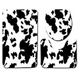 DZYZ 3 pezzi Piedistallo & WC Tappetino da bagno della copertura del sedile Set Set di flanella non slip , animal lines 01 , three pieces set