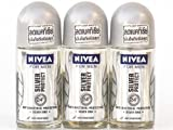 Nivea Deo For Men 48H Silver Protect Antiperspirant Deodorant Roll-On 50Ml (3Pcs/Pack)