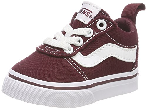 Vans Unisex Baby Ward Slip-ON Canvas Sneakers, Rot Port Royale/White 8j7, 17 EU