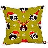 TianranRT Glücklich Weihnachten Kissen Fälle Leinen Sofa Kissen Abdeckung Startseite Dekor Kissen Fall (A)