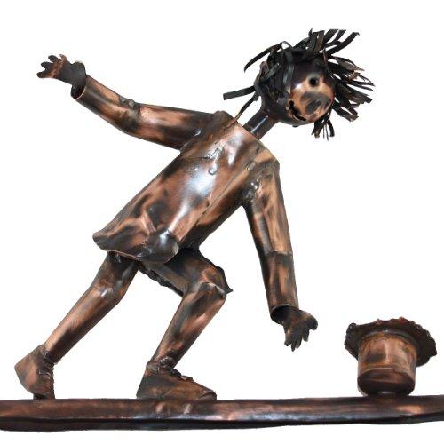 Kupferfigur für die Dachrinne, Dachrinnenfigur handgefertigt etwa 27 cm aus Kupfer, Dachschmuck, Hausschmuck