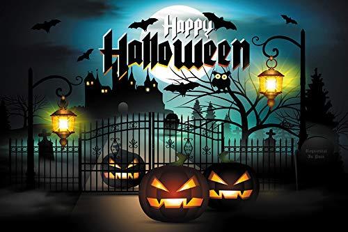 Xuthuly Halloween-Hintergrund-Kürbis 5x3FT Laternen-Hintergrund-Fotografie-Studio