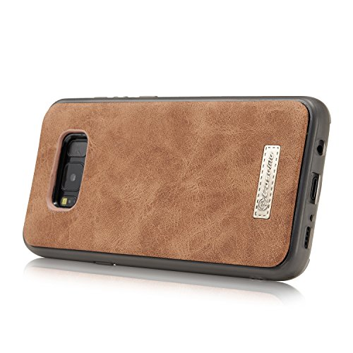 Custodia in Similpelle per Samsung Galaxy S8Plus 6.2pollici–�?in1Portafoglio con chiusura magnetica, scomparti per carte di credito e portamonete sostegno Portamonete rosso Rot marrone