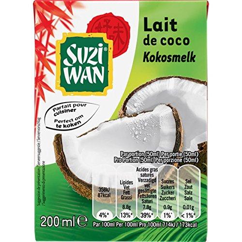 suzi wan Lait de coco - ( Prix Unitaire ) - Envoi Rapide Et Soignée