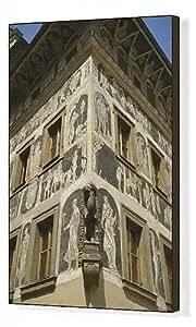Toile imprimée de style Renaissance Décoration scraffito appelé à la maison sur la Minute de Prague