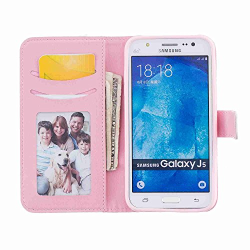 Guran® PU Leder Tasche für Apple iPhone 5S / SE (4 Zoll) Smartphone Flip Deckung Stehen Funktion und Karte Slot Case-ananas color10
