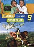 Histoire-Géographie 5e - Nouveau programme 2016
