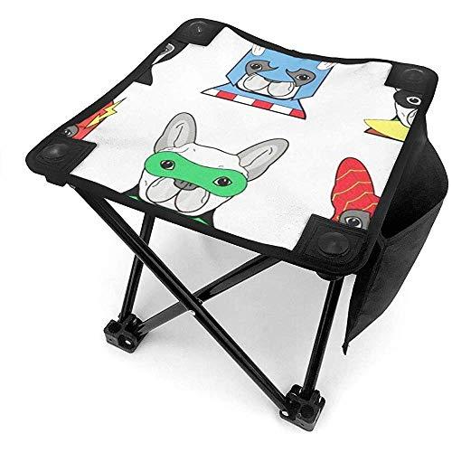 Ace Mate Kostüm Welpen Hunde mit Masken Mini tragbarer Hocker Klappstuhl mit Tragetasche