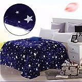 Brillante estrellas suave felpa felpa sueño sofá manta cama para sofá cama