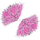com-four 2x Cheerleader PomPom in rosa, 35 cm (02 Stück - rosa)