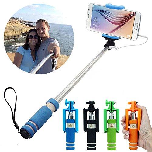 MagnusDeal New Generation Latest Mini Monopod AUX Selfie Stick Qty.(1pcs) Color-Assorted