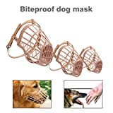Momorain Leichte Starke Hund Maulkorb Anti-Beißen Anti-bellen Mund Abdeckung Hund Verstellbare Gurte Maske Pet Training Supplies (Farbe: beige rosa) (Größe: 2#)