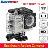 "Excelvan Silver, France: Y8-P Action Camera 1.5 "" LTPS LCD 30M Waterproof WiFi Full HD H264 1080p 12Mp Video DV Action Sports Camera"