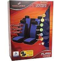 Walser 12472 Set completo coprisedili auto Flash blu, per veicoli dotati di airbag laterale, certificato (Flash Veicolo)